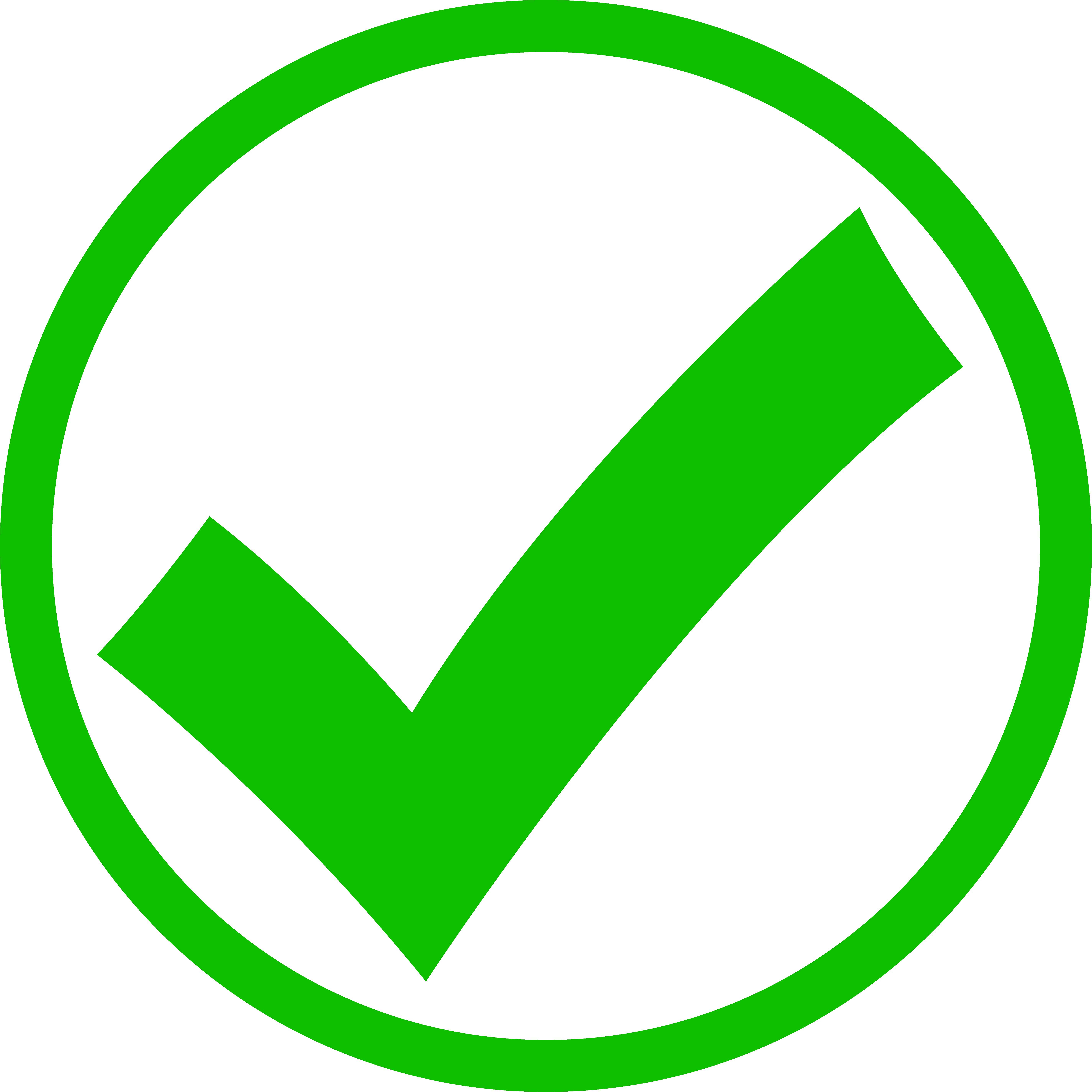 5695x5695 Green Check Mark In Circle