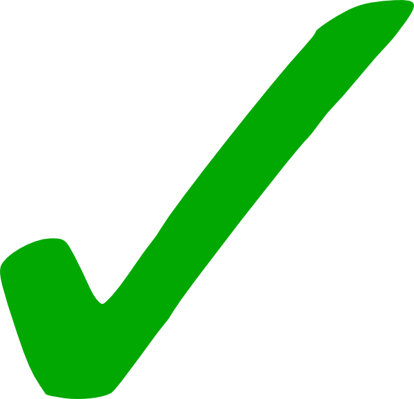 600x578 Light Green Check Mark Clip Art