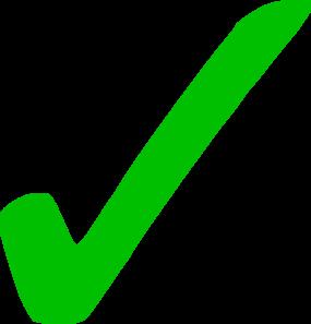 285x297 Transparent Green Checkmark Clip Art