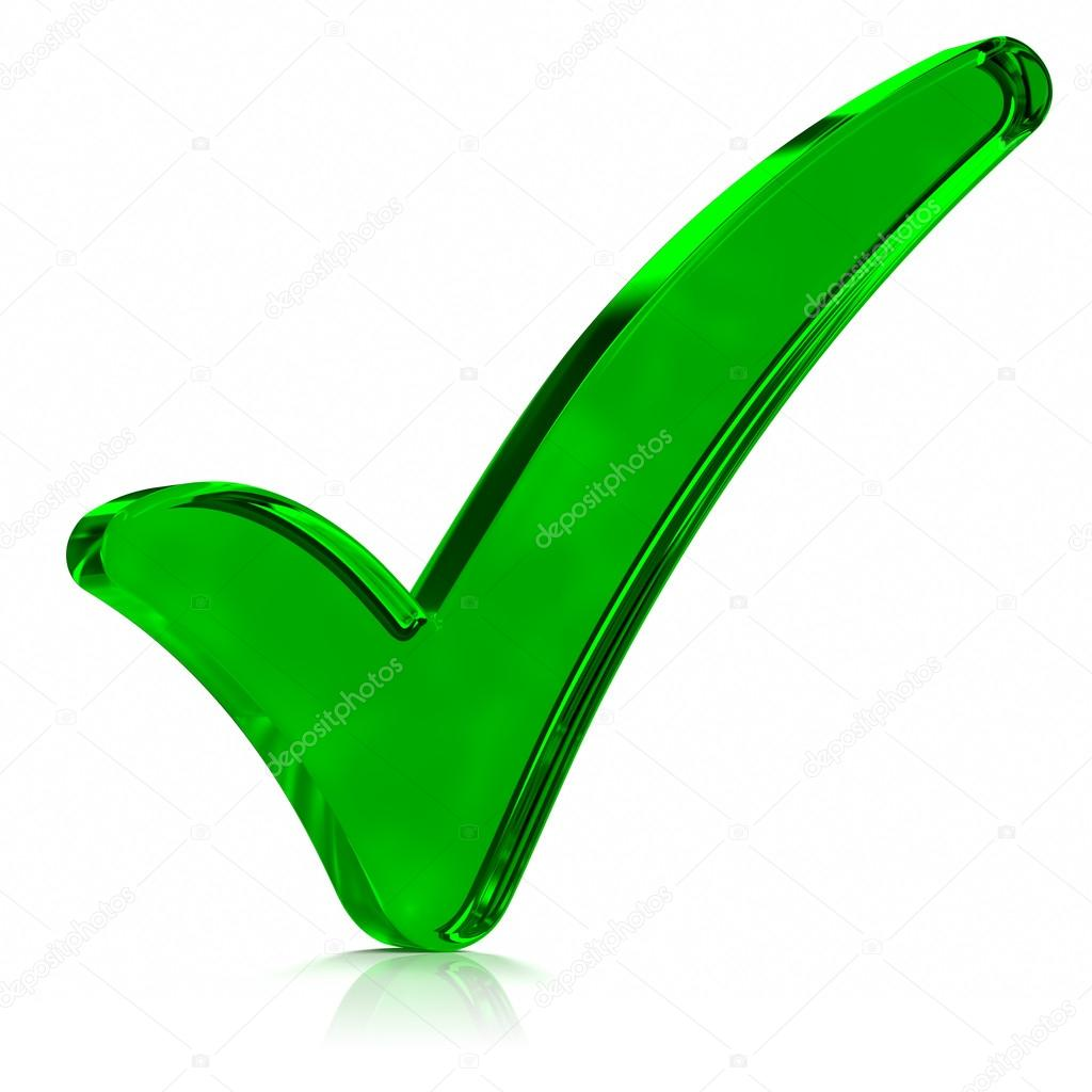 1024x1024 Green Check Mark Symbol Stock Photo Outstyle