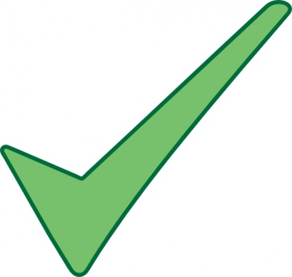425x404 Green Check Mark Vector