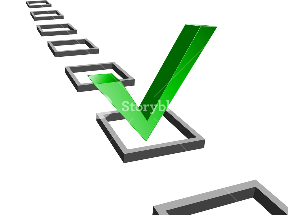 1000x747 Green Check Mark Vector Illustration Royalty Free Stock Image