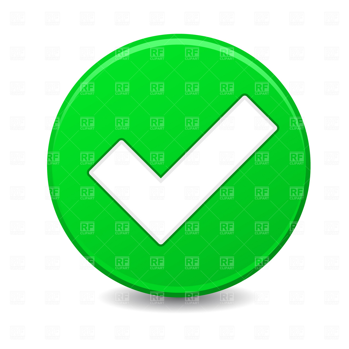 1200x1200 Green Button With Check Mark Royalty Free Vector Clip Art Image