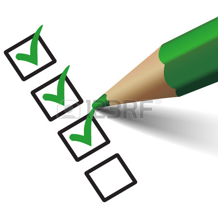 450x450 Vector Green Check Mark Symbol And Icon On Checklist With Pen