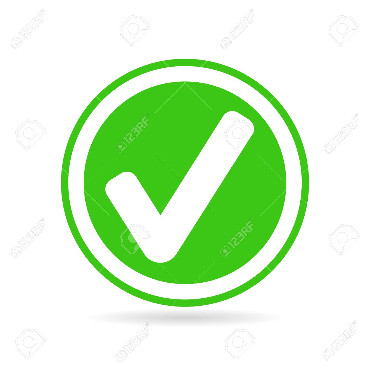 1300x1300 Check Mark Or Tick Icon In Green Circle Royalty Free Cliparts