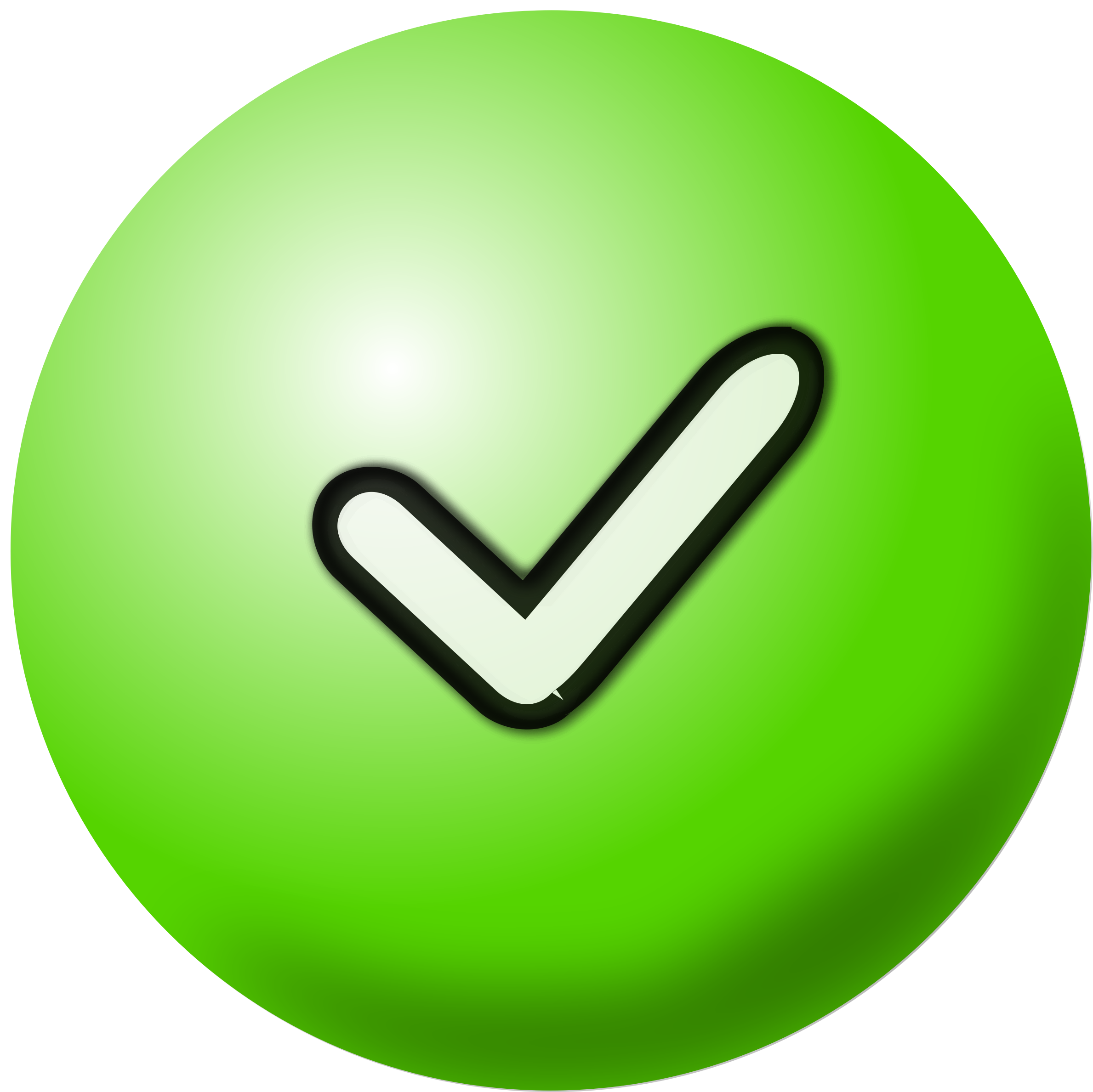 2378x2377 Clipart Green Check Mark Icon