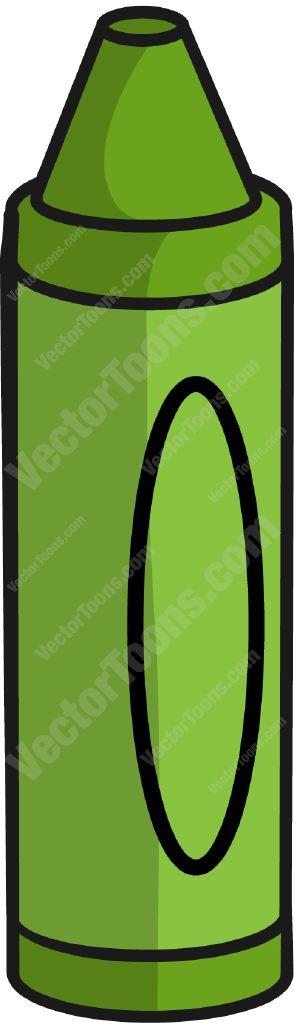 294x1023 Green Crayon Clipart
