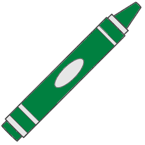 500x500 School Clipart Green Crayon Clipart Gallery ~ Free Clipart Images