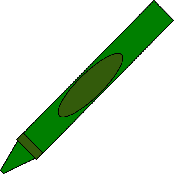 600x600 Totetude Green Crayon Clip Art