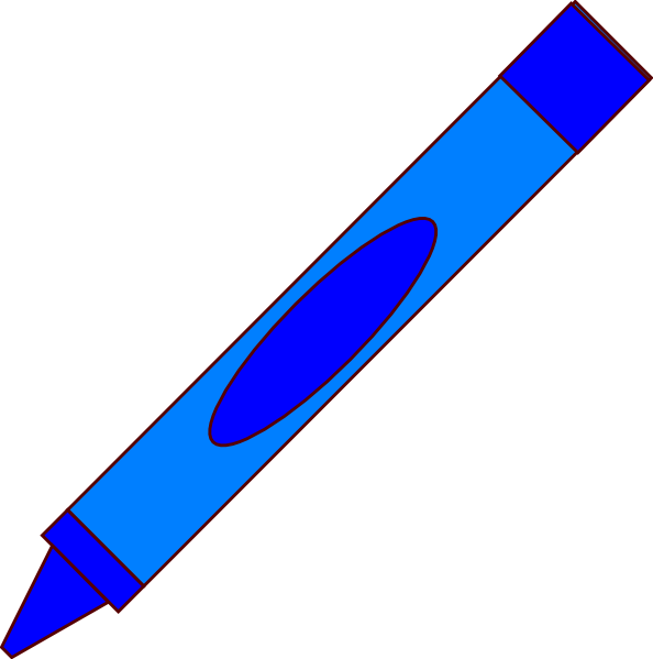594x599 Free Blue Crayon Clipart Image