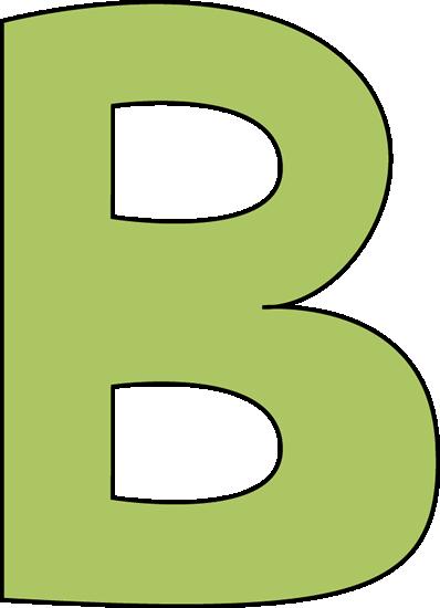398x550 Green Letter B Clip Art