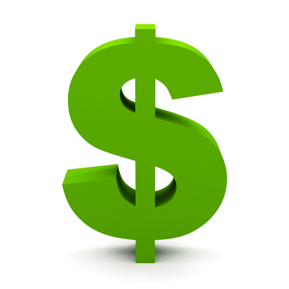 Dollar sign green. Free download best on