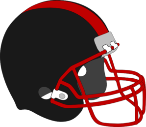 298x258 Football Helmet Red And Black Clip Art