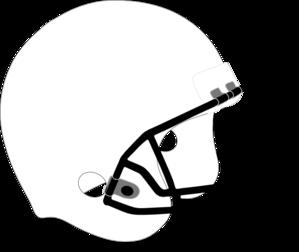 299x252 Football Helmet White Black Clip Art