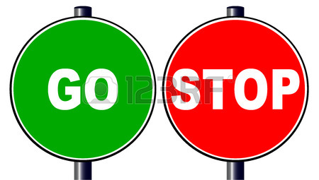 450x255 The Go Green Traffic Sign With A Red Go Traffic Sign Isolated