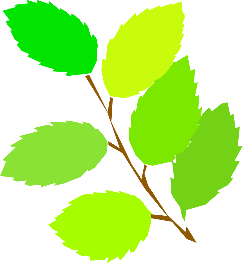 831x900 Green clip art leaves clipart image