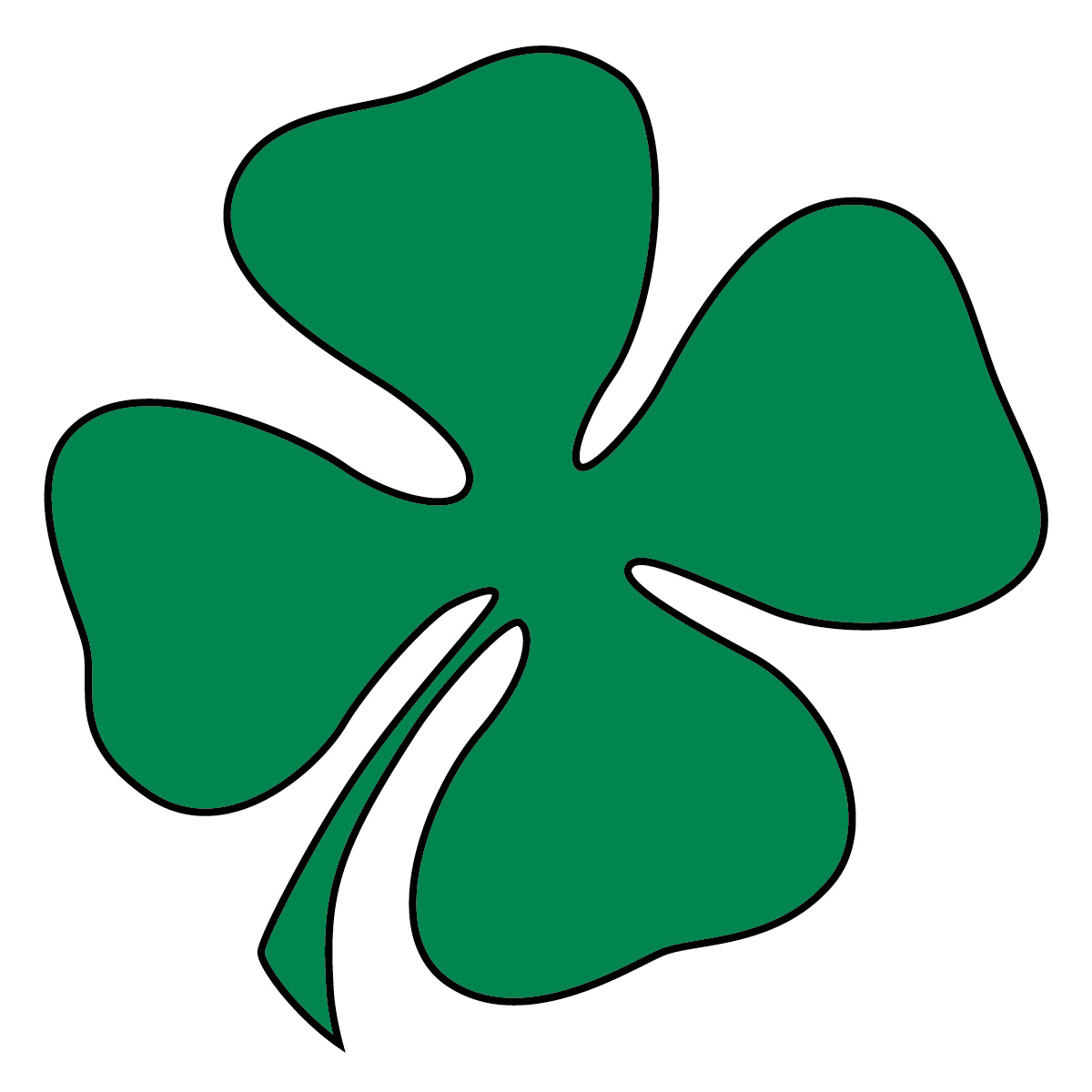 1200x1200 Clip art green four leaf clover shamrock st patrick