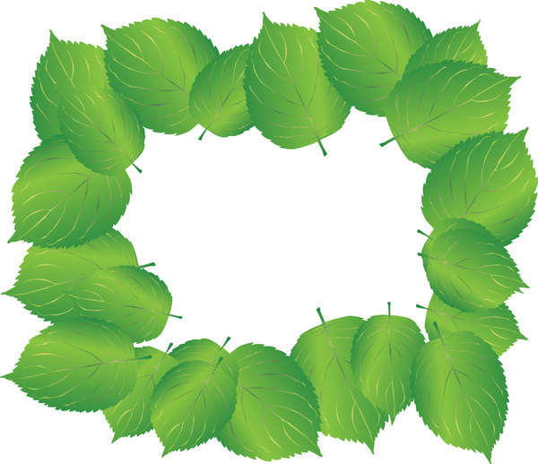 600x518 Green Leaves Gradient Frame Free Vector In Adobe Illustrator Ai