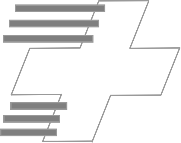 600x477 Grey Cross Clip Art