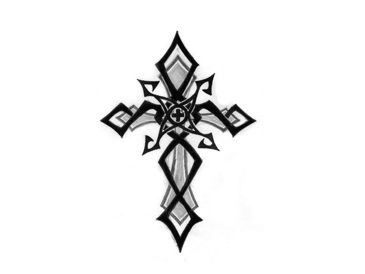 1280x960 Black Grey Cross Tattoos Cross Tattoo Images Designs