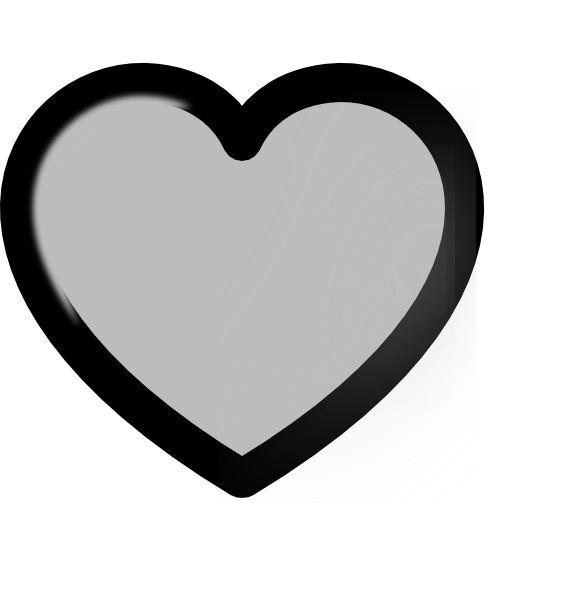 Grey Heart Clipart