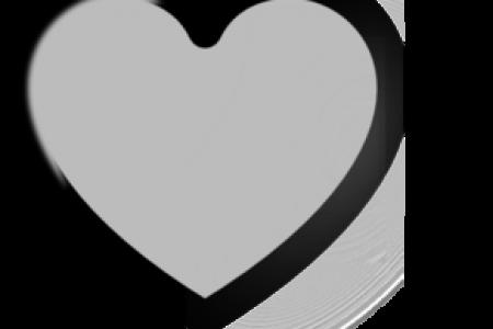 450x300 Grey Heart Clip Art, Solid Dark Grey Heart Clip Art