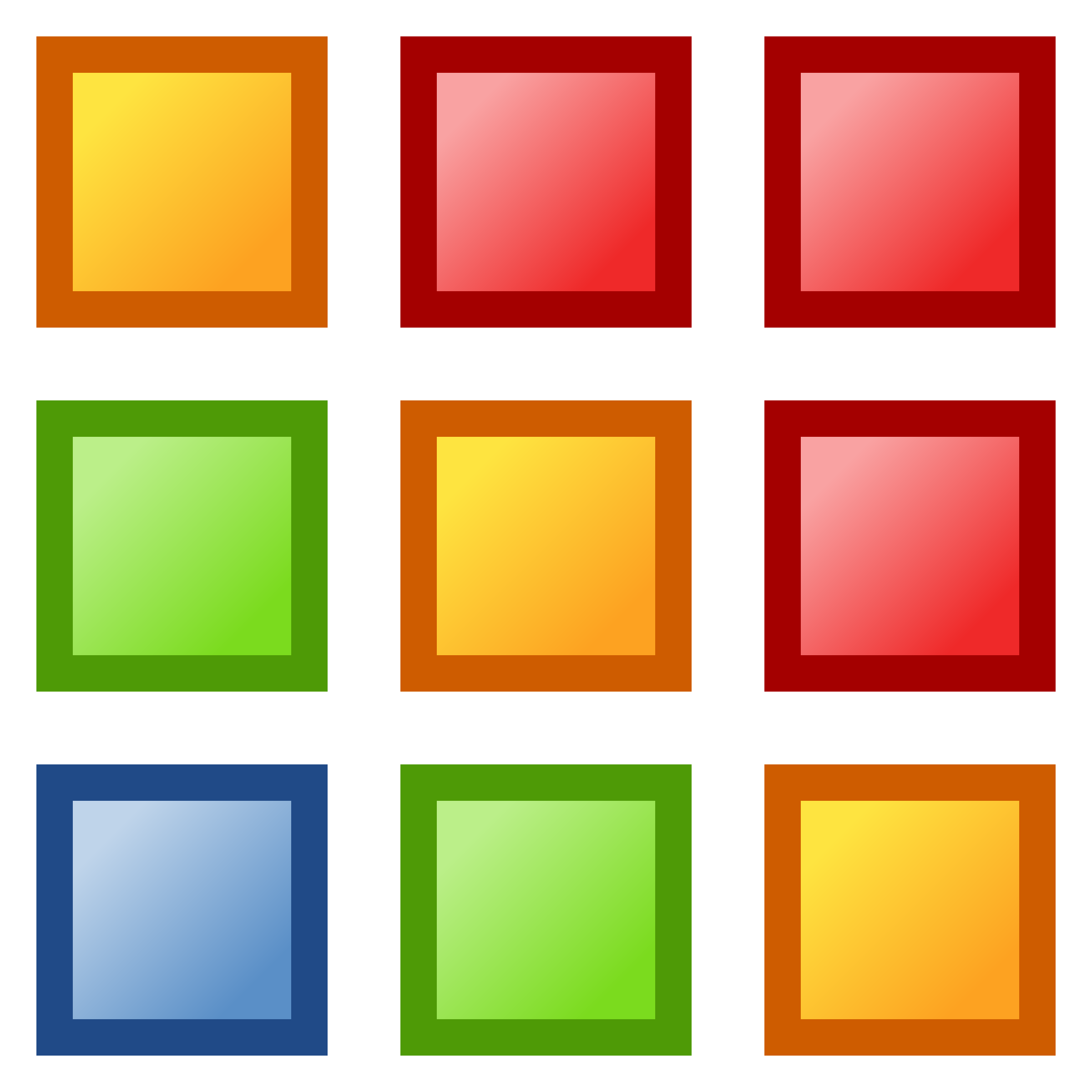 2400x2400 Squares Clipart Colored
