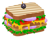 200x146 Free Sandwich Clipart