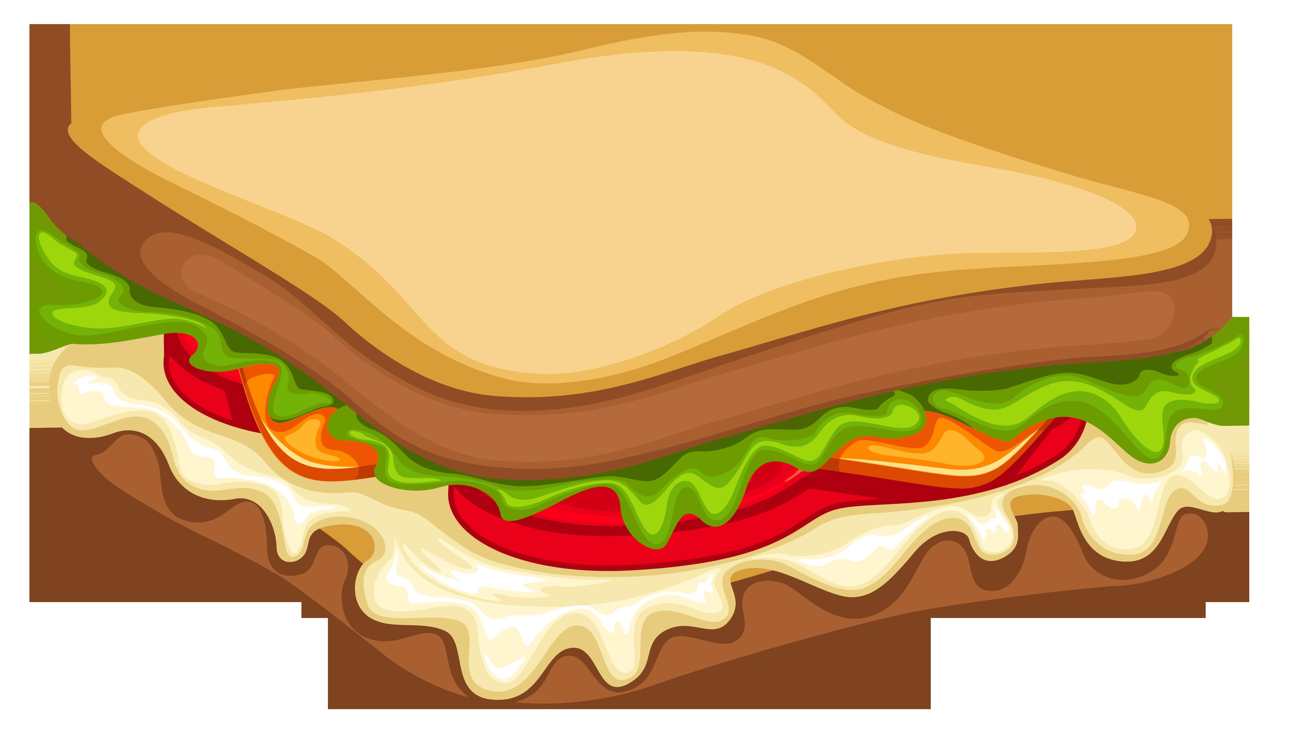 4379x2500 Free Sandwich Clipart