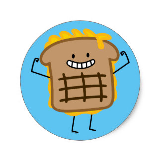 324x324 Grilled Cheese Stickers Zazzle