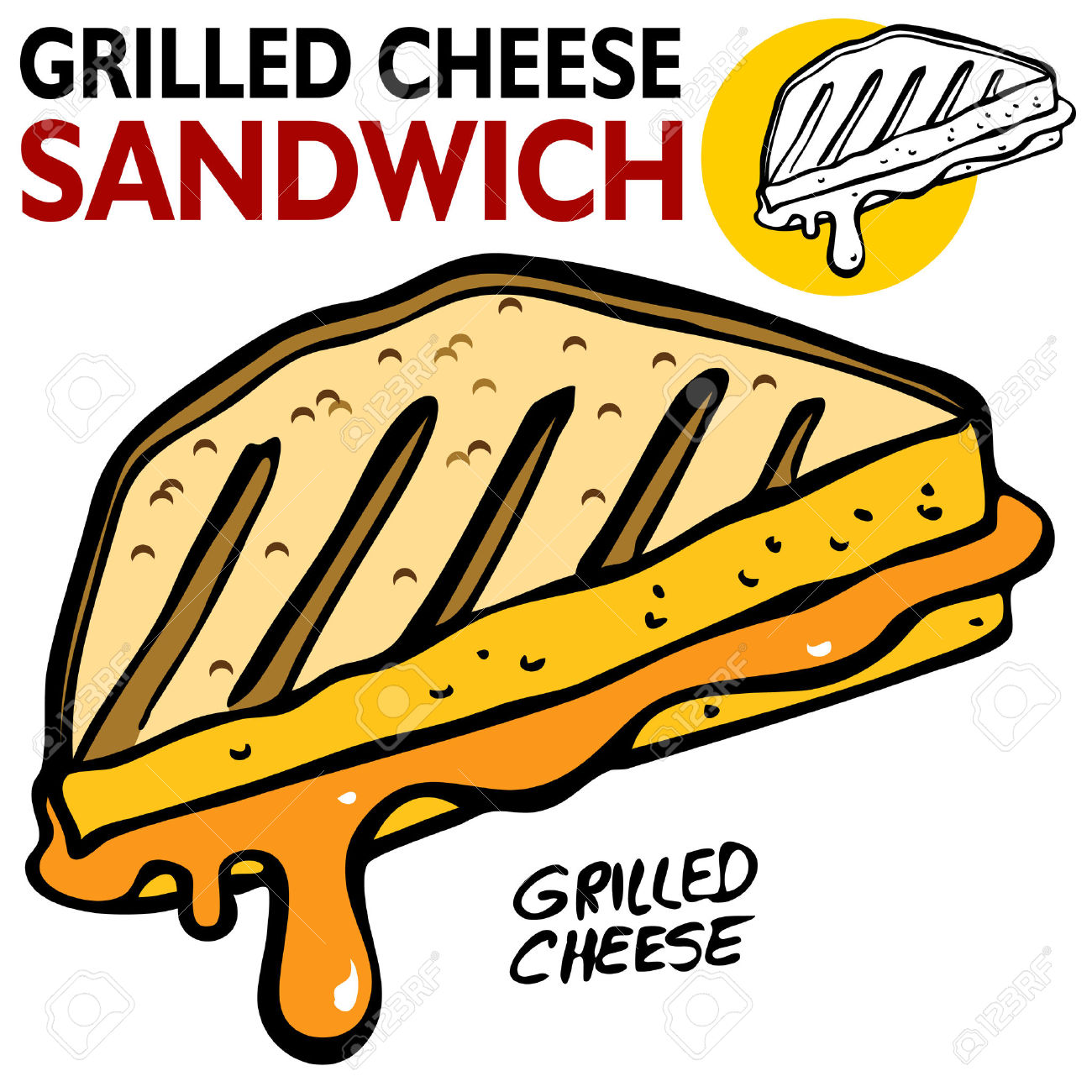 1300x1300 Grilled Cheese Sandwich Cliparts