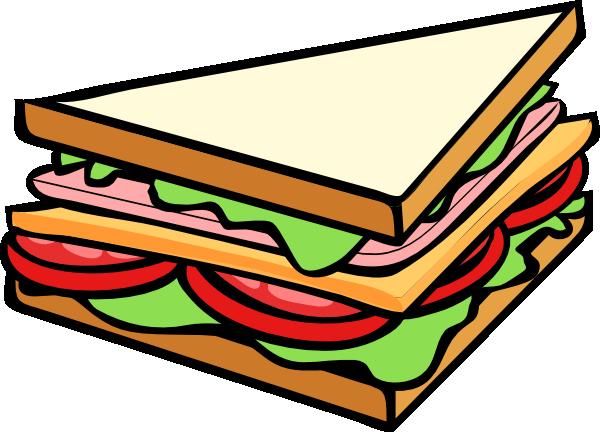 600x432 Sandwich Half Clip Art