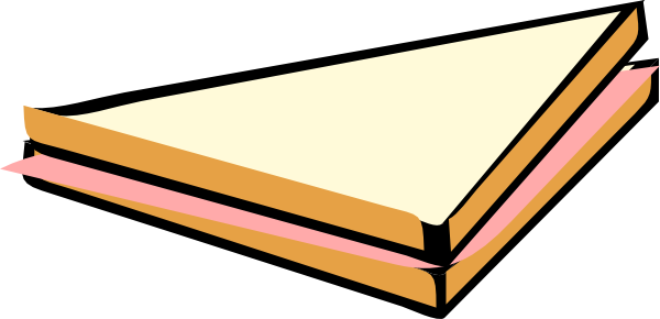 600x290 Sandwich Clipart Half Sandwich