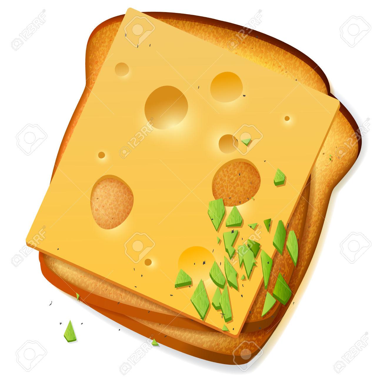 1299x1300 Sandwich Clipart Toast Bread