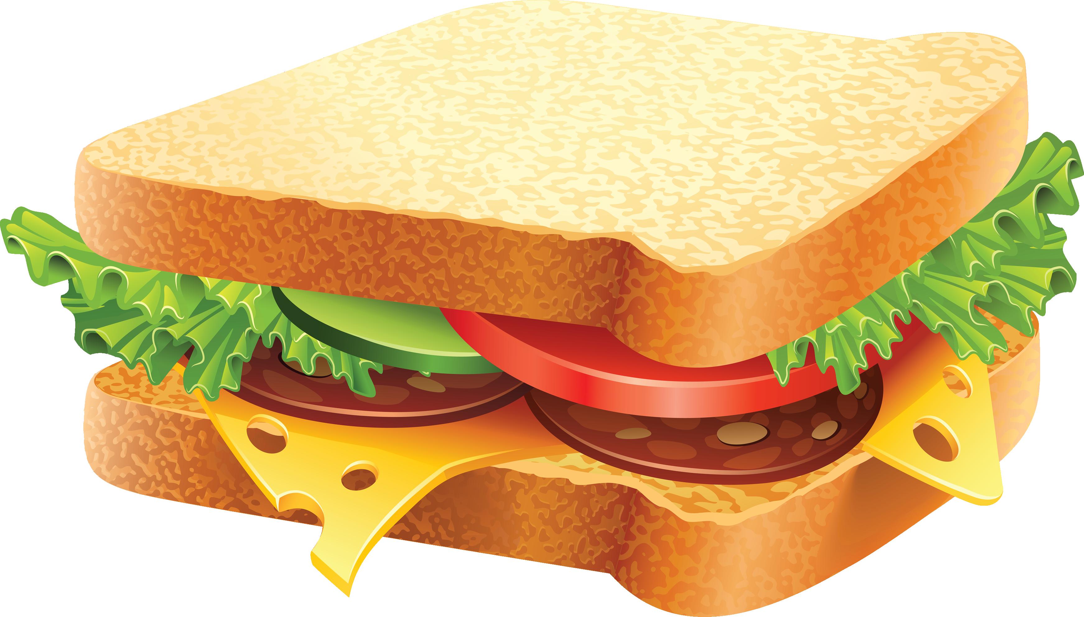 3485x1984 Bampw Clipart Sandwich