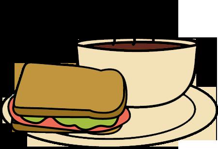 450x307 Soup And Sandwich Clip Art