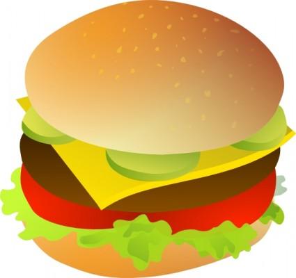 425x400 Cheese Burger Clipart