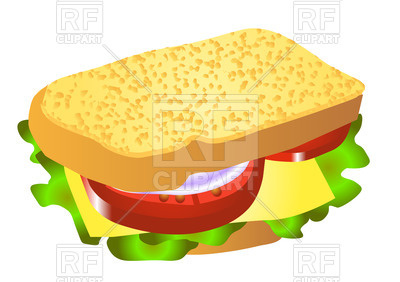 400x282 Cheese Sandwich Royalty Free Vector Clip Art Image