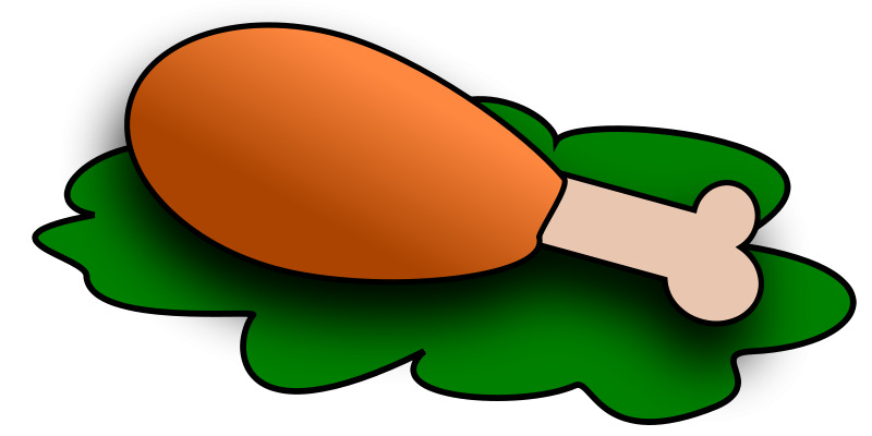 800x400 Image Of Bbq Chicken Clipart