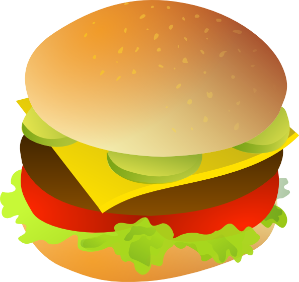 594x560 Cheese Burger Clip Art Free Vector 4vector