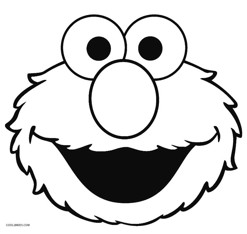 800x758 Elmo Face Coloring Page Murderthestout