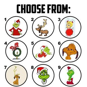 300x300 63 How The Grinch Stole Christmas Envelope Seals Labels