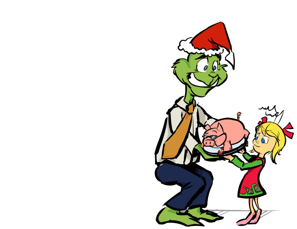 1024x791 A Formal Christmas Luau With The Grinch By Homestarrunnertron