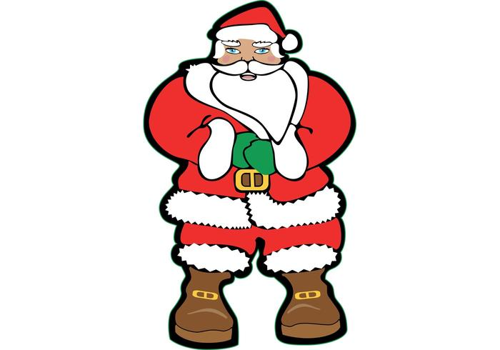 700x490 Santa Claus Vector Image