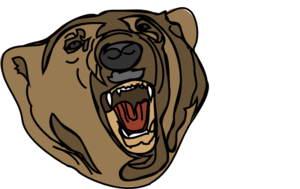 300x189 Grizzly Bear Clip Art For Grizzly Vector Art Design Database
