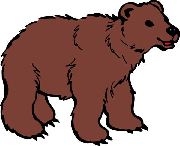 600x487 Grizzly Bear Silvertip Bear Clipart Graphics Free Clip Art