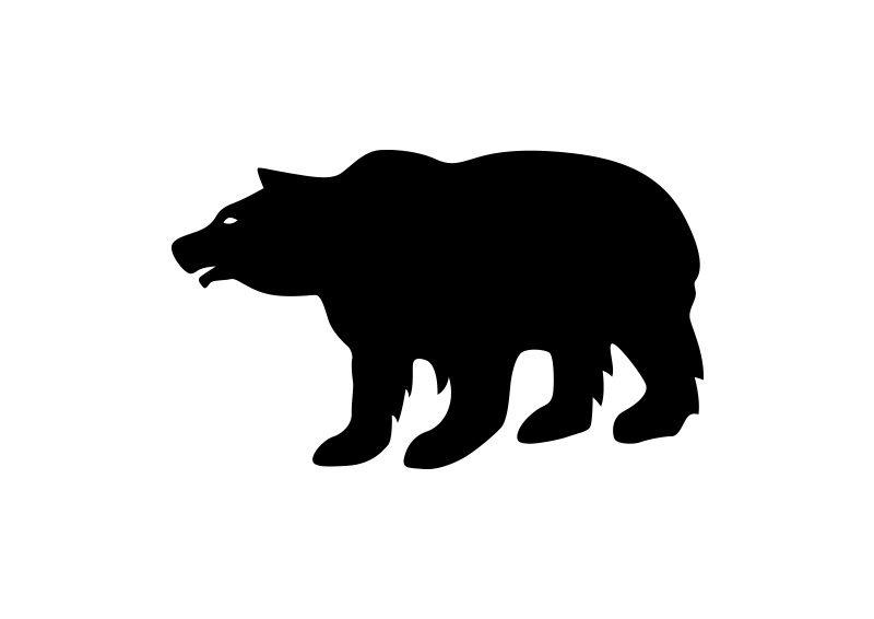 800x566 Bear Vector Silhouette