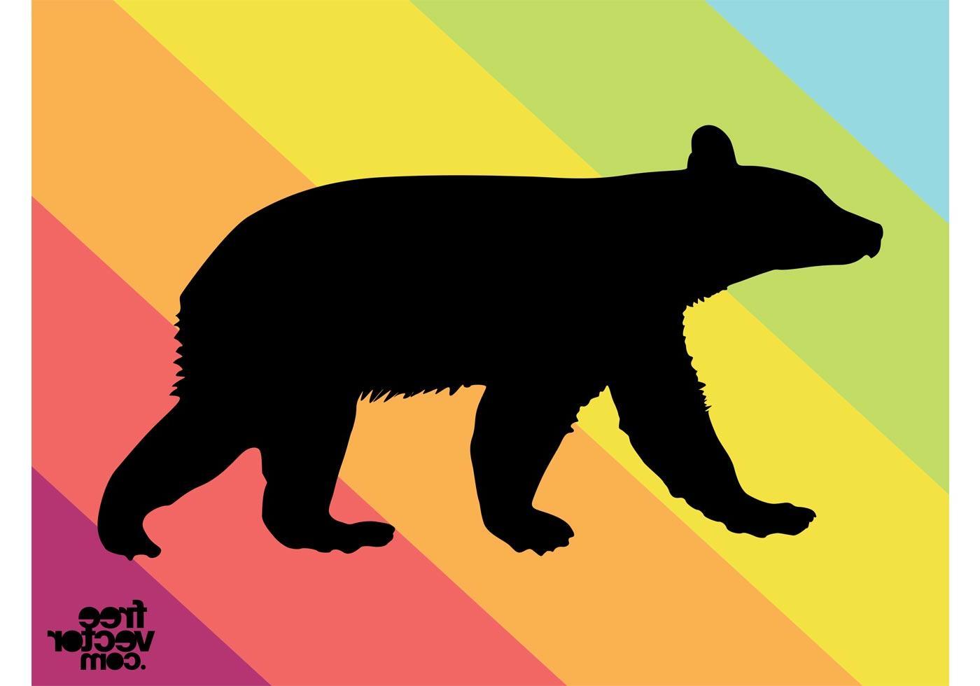 1400x980 Best 15 Vector Bear Cub Silhouette Design