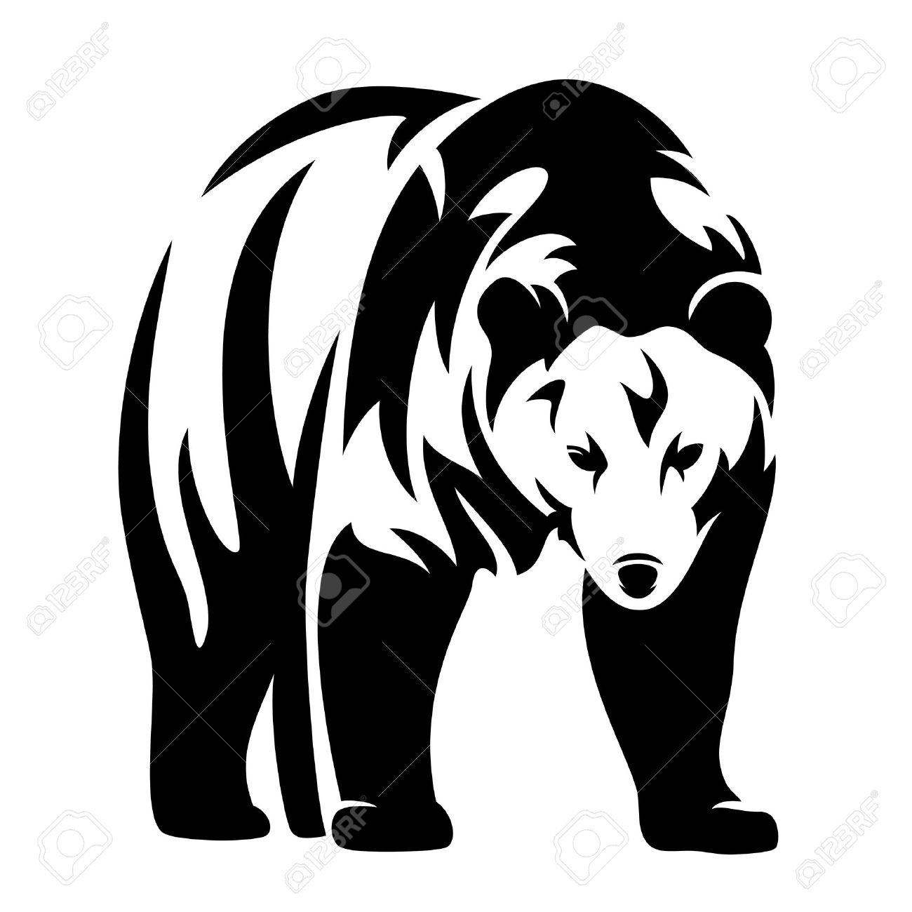 1300x1300 15 Black White Picture Of Grizzly Bear Pictures Black