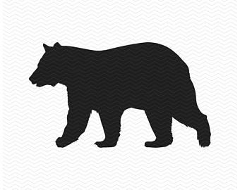 340x270 Black Bear Stencil Etsy